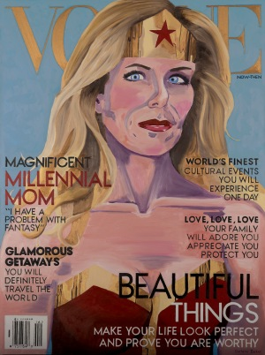 Millennial Mom on the cover of Vogue magazine.