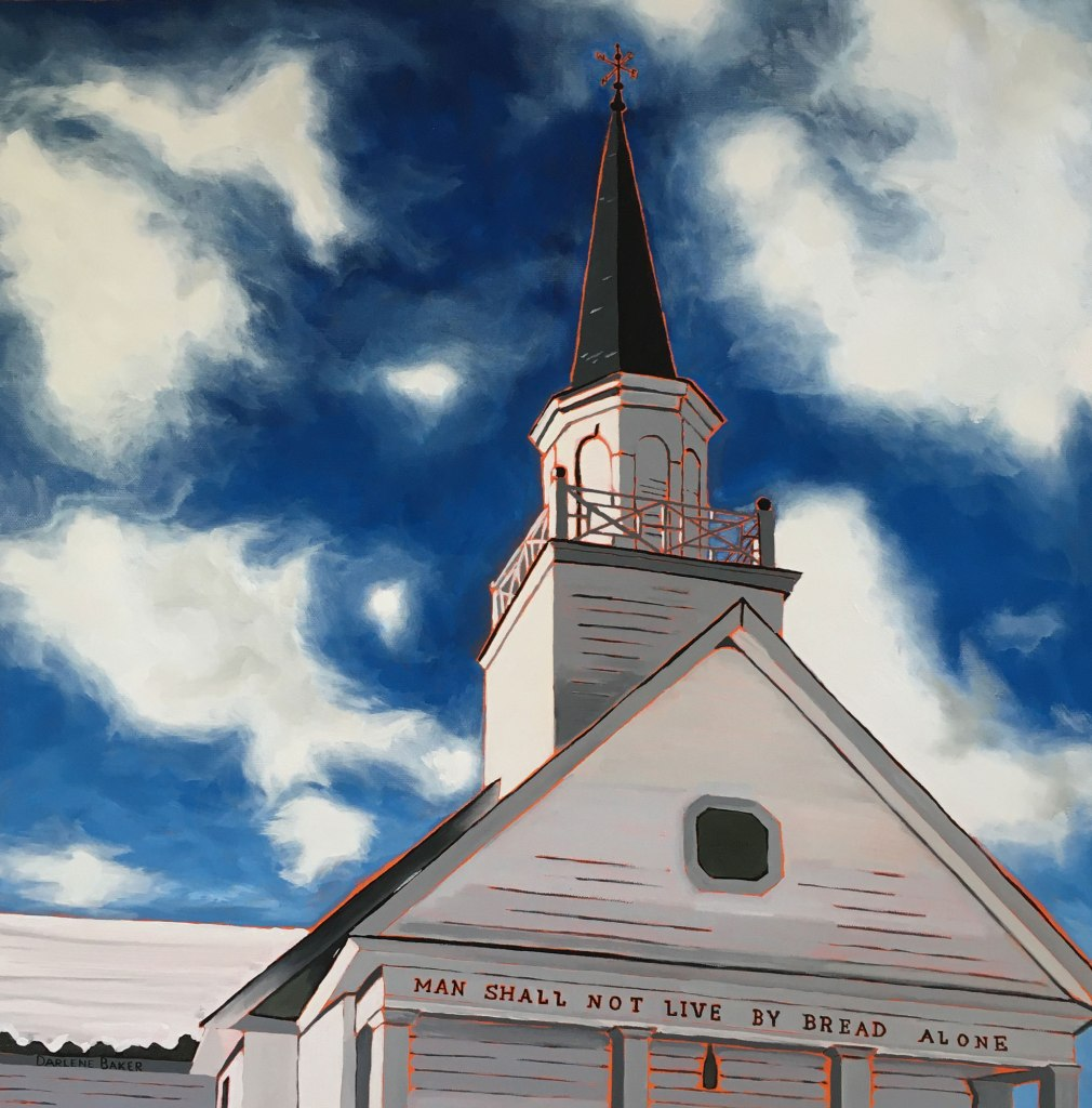 Steeple of St. David's United Church in Rothesay.