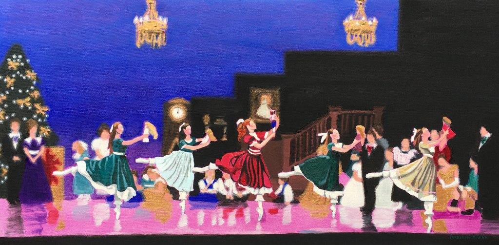 The Doll Dance scene from the Nutcracker ballet.