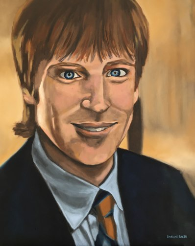 Painting of Stuart Baker